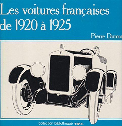 9782851200570: Les voitures fran�aises de 1920 � 1925