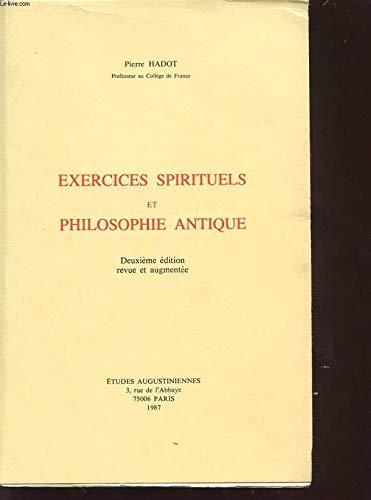9782851210395: Exercices spirituels et philosophie antique (French Edition)