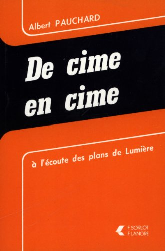 DE CIME EN CIME: PAUCHARD ALBERT