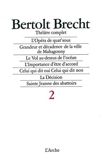Théâtre complet, tome 2 (9782851811905) by Bertolt Brecht
