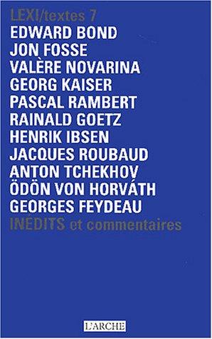 9782851815460: Lexi/textes Volume 7 : Th��tre National de la Colline Saison 2003-2004 : In�dits et commentaires
