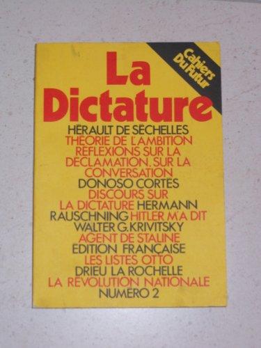 9782851840219: Cahiers du futur, numéro 2. La Dictature
