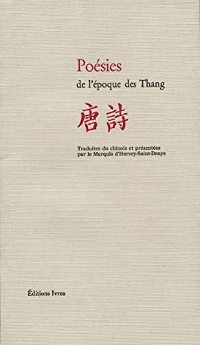 9782851840714: Poésies de l'époque des Thang