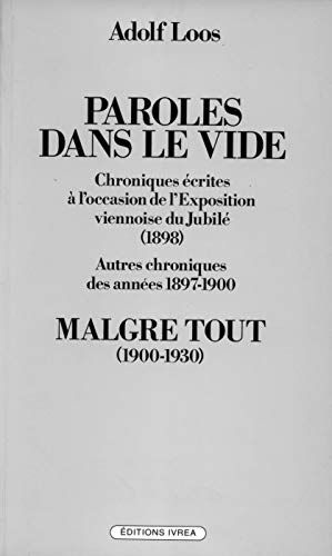 Paroles dans le vide (1897-1900)
