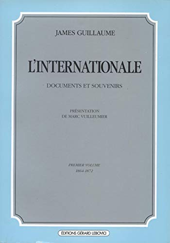 9782851841544: L'internationale vol. 1 (French Edition)