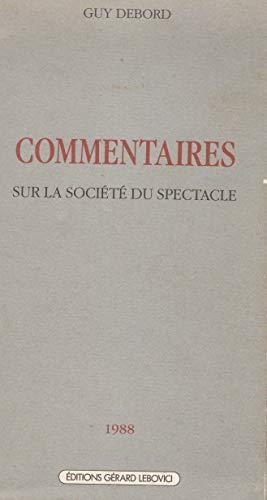 9782851842107: Commentaires sur la société du spectacle (Champ libre) (French Edition)