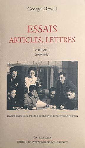 9782851842534: Essais, articles, lettres, tome 2