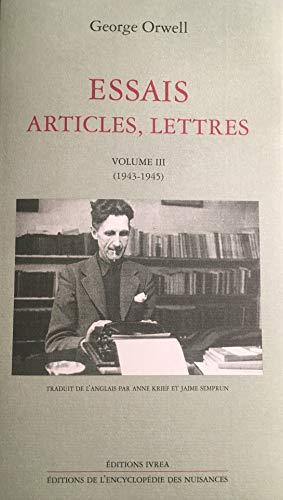 9782851842619: Essais, articles, lettres, tome 3