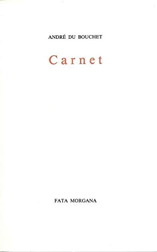9782851941084: Carnet (French Edition)