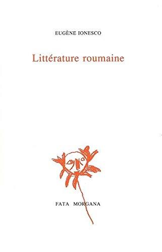 Litterature roumaine: Ionesco Eugene