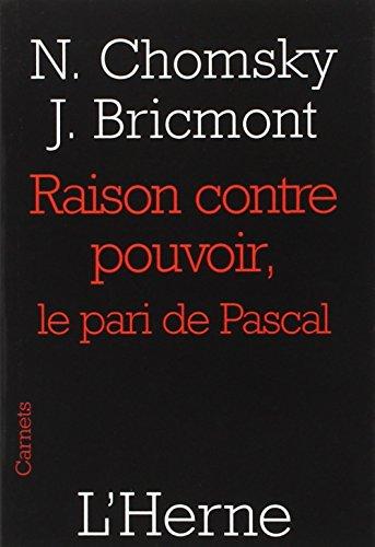 9782851979070: Raison contre pouvoir : Le pari de Pascal