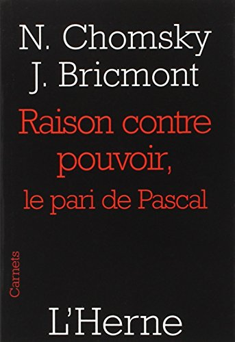 9782851979070: raison contre pouvoir, le pari de pascal (COLLECTION CARNETS)