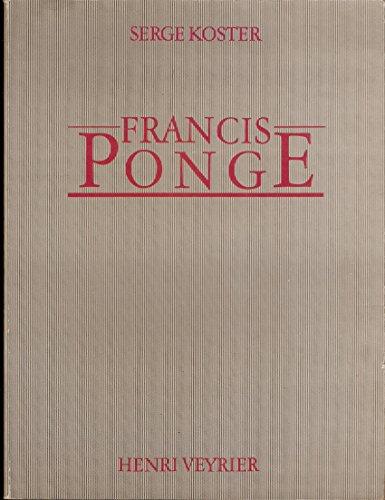 Francis Ponge: Koster, Serge