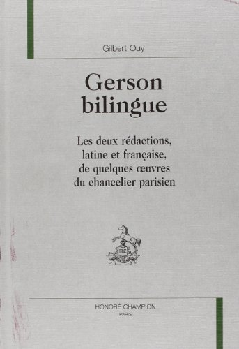9782852038240: Gerson bilingue (French Edition)