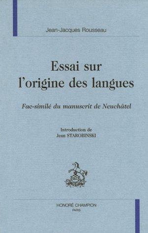 9782852038370: Essai Sur l'Origene DES Langues (L'Age des lumieres) (French Edition)
