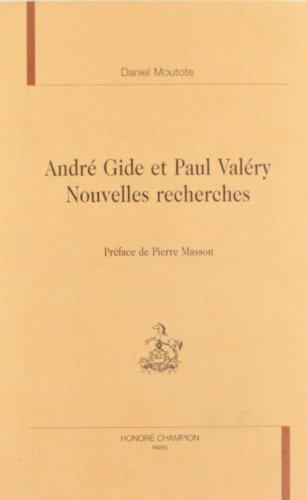 9782852038639: André Gide et Paul Valéry: Nouvelles recherches