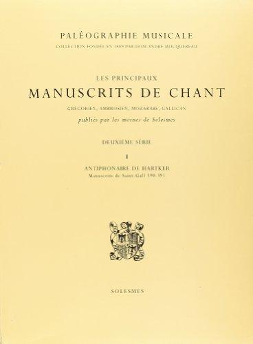 9782852741430: Antiphonaire de Hartker - Manuscrits de Saint-Gall 390-391 (Paleographie Musicale. 2e Serie) (French Edition)
