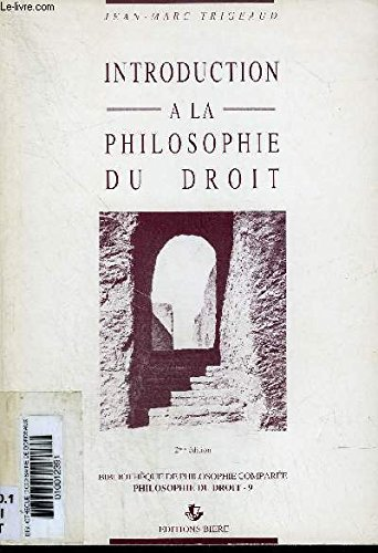 9782852760646: Introduction a la philosophie du droit (Bibliotheque de philosophie comparee) (French Edition)