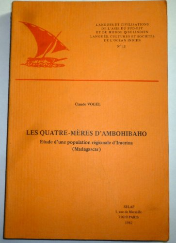 Les quatre meres d'Ambohibao. Etude d'une population regionale d'Imerina (Madagascar). Illustrations de M. Vogel ASE13 (Societe d'Etudes Linguistiques et Anthropologiques de France) (2852970740) by Andreas Vogel