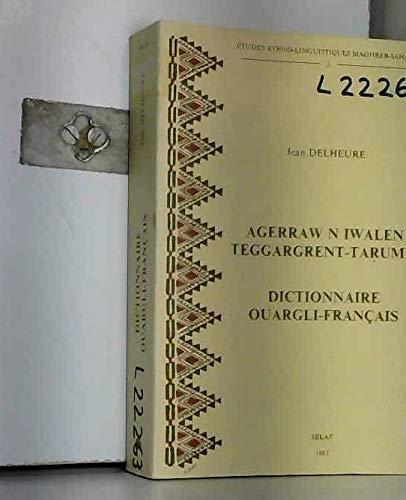 9782852971974: Dictionnaire ouargli-francais (Index recapitulatif francais-ouargli). MS5 (Societe d'Etudes Linguistiques et Anthropologiques de France)