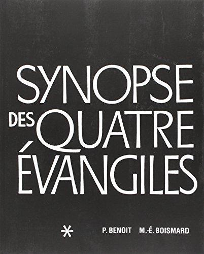 9782853004572: Synopse des Quatre Evangiles - Tome I