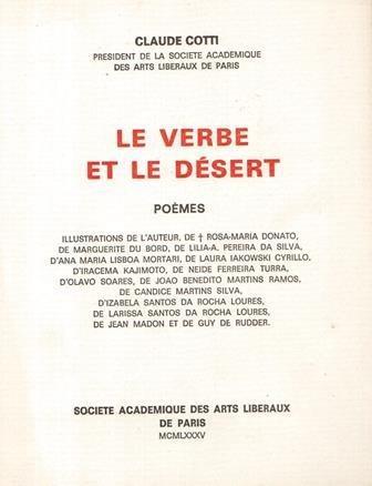 Le verbe et le desert: Poemes (Ouvrages de Claude Cotti) (French Edition): Cotti, Claude