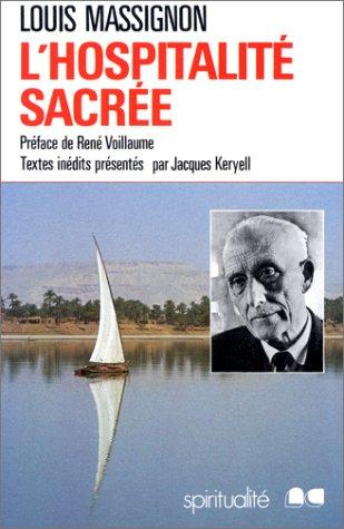 9782853131575: L'HOSPITALITE SACREE (Spiritualité)