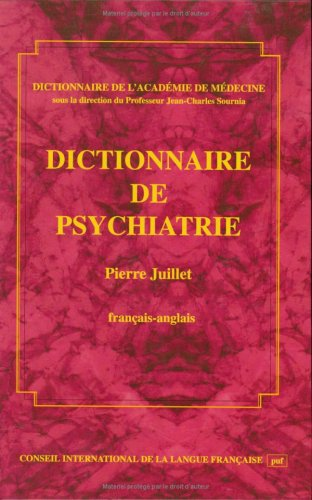 9782853192798: Dictionary of Psychiatry, French to English: Dictionnaire de Psychiatrie FRancais Anglais