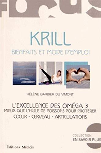 9782853274463: Krill : Bienfaits et mode d'emploi