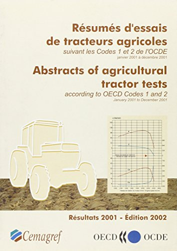 Abstracts of Agricultural Tractor Test according to: Oecd
