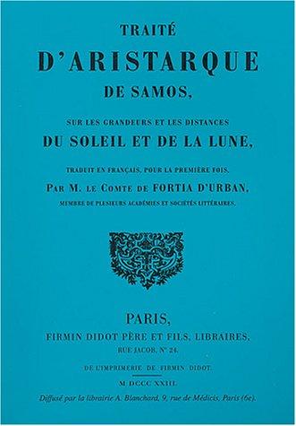 9782853672283: Traité d'Aristarque de Samos sur les grandeurs et les distances du Soleil et de la Lune