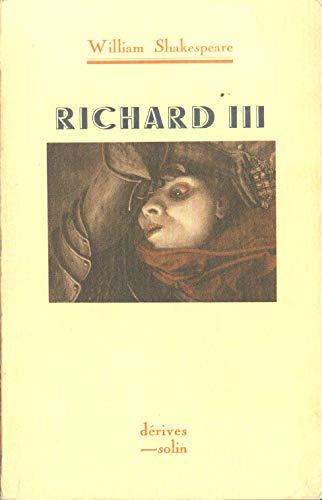 9782853760461: RICHARD III.