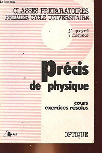 9782853941891: PRECIS DE PHYSIQUE