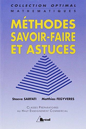 9782853948319: Mathématiques : Méthodes, savoir-faire et astuces