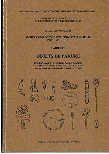 9782853992770: Fiches typologiques de l'industrie osseuse pr�historique. : Tome 4, Objets de parure