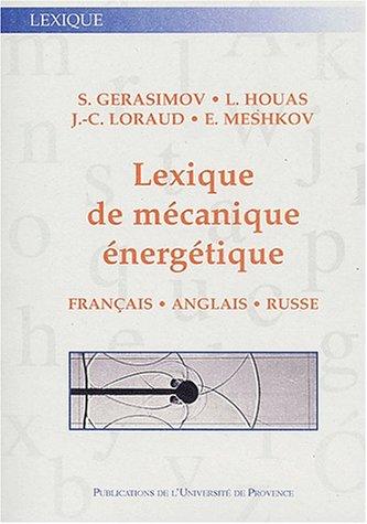 9782853995153: Lexique de mecanique energetique (French Edition)