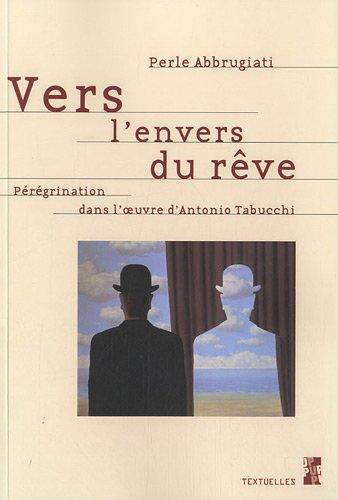 9782853997874: Vers l'envers du r�ve : P�r�grination dans l'oeuvre d'Antonio Tabucchi