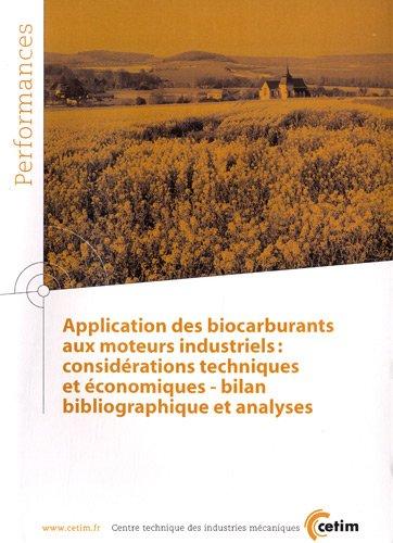 APPLICATION DES BIOCARBURANTS AUX MOTEUR: COLLECTIF