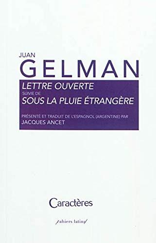 Lettre ouverte suivie de Sous la pluie etrangere (French Edition) (9782854464870) by [???]