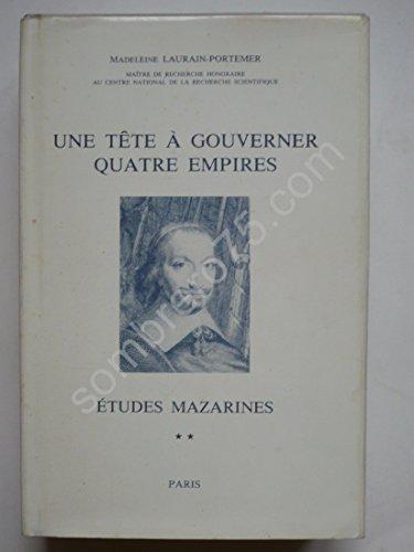 Etudes mazarines (French Edition): Laurain-Portemer, Madeleine