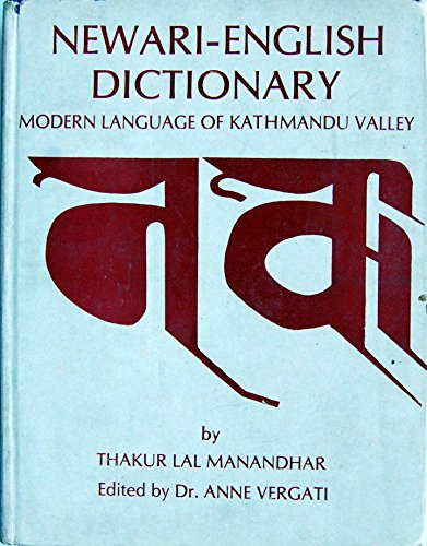 9782855395128: Newari-English Dictionary. Modern Language of Kathmandu Valley