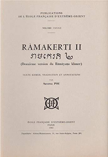9782855397320: Râmakerti 2 : Deuxième version du Râmâyana khmer