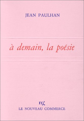 A demain, la poésie (French Edition) (285541055X) by [???]