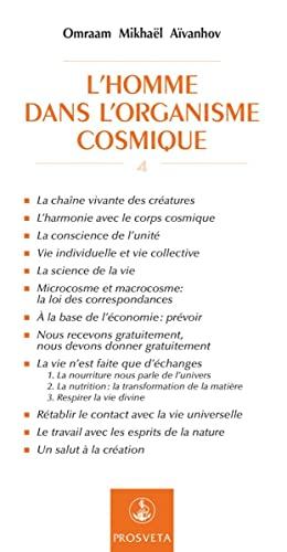 9782855666037: L'Homme Dans l'Organisme Cosmique