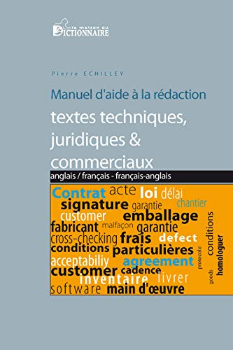 9782856083215: Manuel d'aide a la traduction de textes techniques, juridiques & commerciaux angl-fr/fr-angl