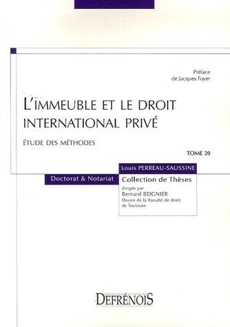 L'immeuble et le droit international privé (French Edition): Louis ...