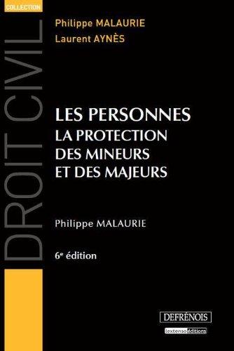 9782856232118: Les personnes : La protection des mineurs et des majeurs