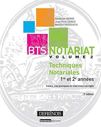 9782856232361: BTS Notariat Techniques notariales