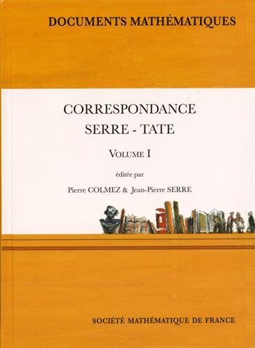 9782856298022: Correspondance Serre-Tate : Tome 1