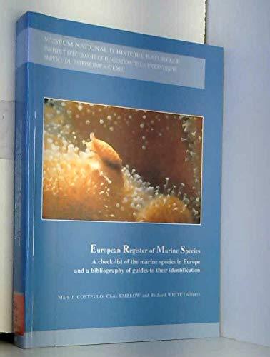 9782856535387: European register of marine species in europe : a check-list of the marine species